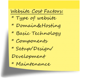 website design and development factors and cost